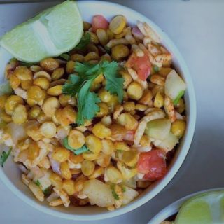 chana dal and cucumber salad