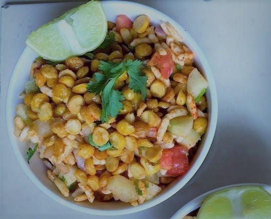 chana dal and cucumber salad